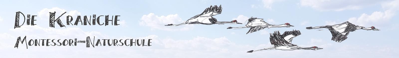 Kopfbild - fliegende Kraniche